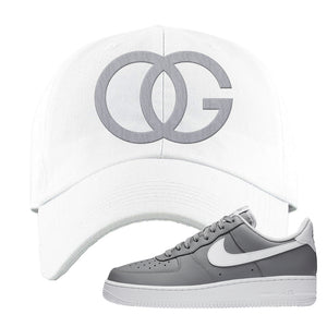 Air Force 1 Low Wolf Grey White Dad Hat | White, OG