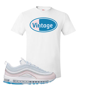 Air Max 97 DIY Flare T Shirt | White, Vintage Oval