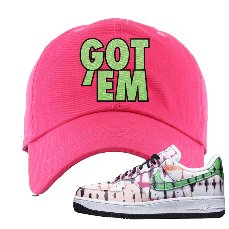 Air Force 1 Low Multi-Colored Tie-Dye Dad Hat | Pink, Got Em