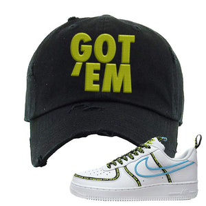 Air Force 1 '07 PRM 'Worldwide Pack' Distressed Dad Hat | Black, Got Em