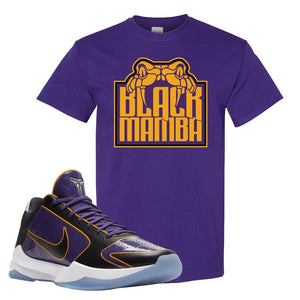 Kobe 5 Protro 5x Champ T Shirt | Black Mamba, Deep Purple