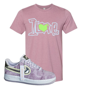 Air Force 1 P[her]spective T Shirt | Heather Orchid, 1 Love
