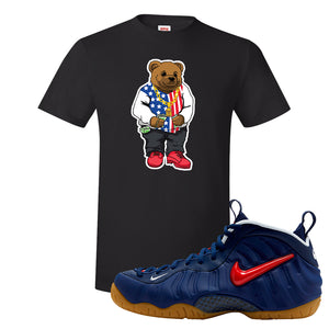 Air Foamposite Pro USA T Shirt | Black, Sweater Bear