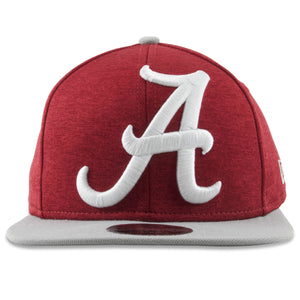 Embroidered on the front of the Alabama XL Logo snapback hat is the University of Alabama logo in bold white letters