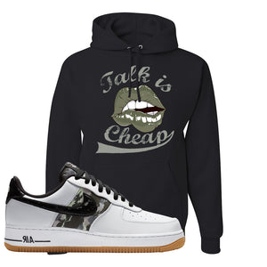 Air Force 1 Low Camo Hoodie | Talk Is Cheap, Black
