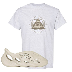 Yeezy Foam Runner Sand T Shirt | All Seeing Eye, Ash