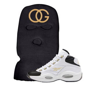 Reebok Question Mid Black Toe Ski Mask | Black, OG