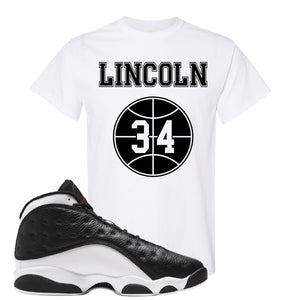 Jordan 13 Reverse He Got Game Lincoln 34 White Sneaker Hook Up T-Shirt