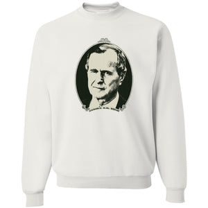 Standard Issue George H.W. Bush Dollar Bill White Grunt Life Crewneck Sweater