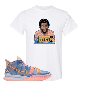 Kyrie 7 Expressions T-Shirt | Escobar Illustration, White