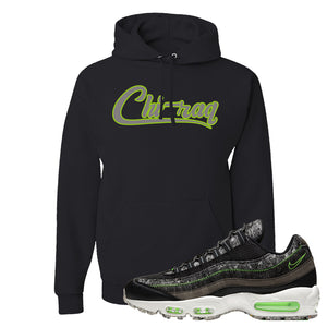 Air Max 95 Black / Electric Green Hoodie | Chiraq, Black