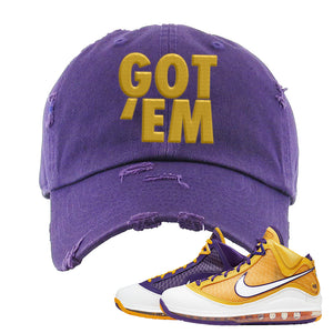 Lebron 7 'Media Day' Distressed Dad Hat | Purple, Got Em