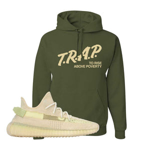 Yeezy 350 v2 Sulfur Hoodie | Military Green, Trap To Rise Above Poverty