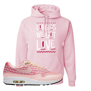 Air Max 1 Strawberry Lemonade Pullover Hoodie | Long As We Got Love, Light Pink