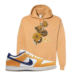 SB Dunk Low Laser Orange Hoodie | Old Gold, Snake Lotus