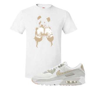 Air Max 90 Zebra Snakeskin T Shirt | Boxing Panda, White
