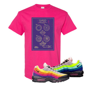 Airmax 95 '20 For 20' Sneaker Heliconia T Shirt | Tees to match Nike Airmax 95 '20 For 20' Shoes | Diamond Patent Sketch