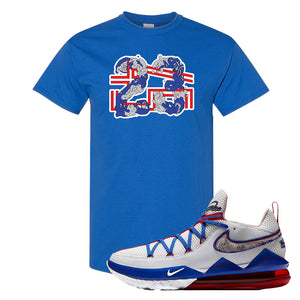 LeBron 17 Low Tune Squad Sneaker Royal Blue T Shirt | Tees to match Nike LeBron 17 Low Tune Squad Shoes | 23X45