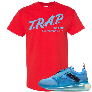 Air Max 720 OBJ Slip Light Blue T Shirt | Red, Trap To Rise Above Poverty