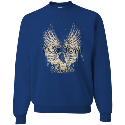 Standard Issue We The People Bald Eagle Blue Grunt Life Crewneck Sweater