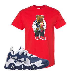Air Barrage Low USA T Shirt | Red, Sweater Bear