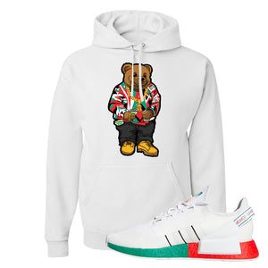 NMD R1 V2 Ciudad De Mexico Hoodie | White, Sweater Bear