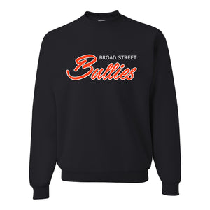 Broad Street Bullies Crewneck Sweatshirt | Broad Street Bullies Black Crewneck Sweatshirt the front of this crewneck has the bullies script
