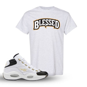 Question Mid Black Toe Sneaker Ash T Shirt | Tees to match Reebok Question Mid Black Toe Shoes | Blessed Arch