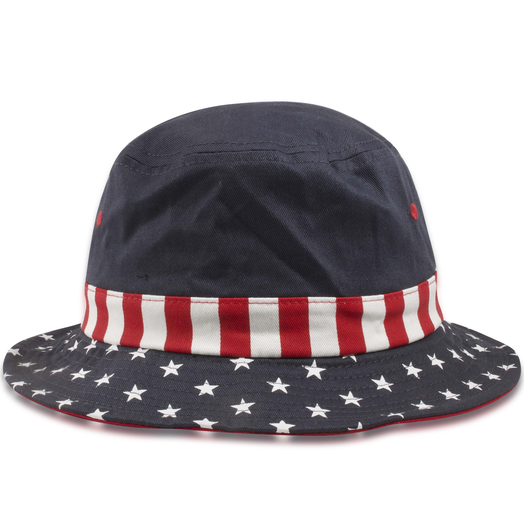 ac8597ebf Dorfman Pacific Stars and Stripes USA Flag Bucket Hat