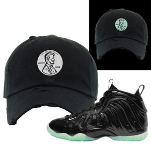 Foamposite One 2021 All Star Distressed Dad Hat | Penny, Black