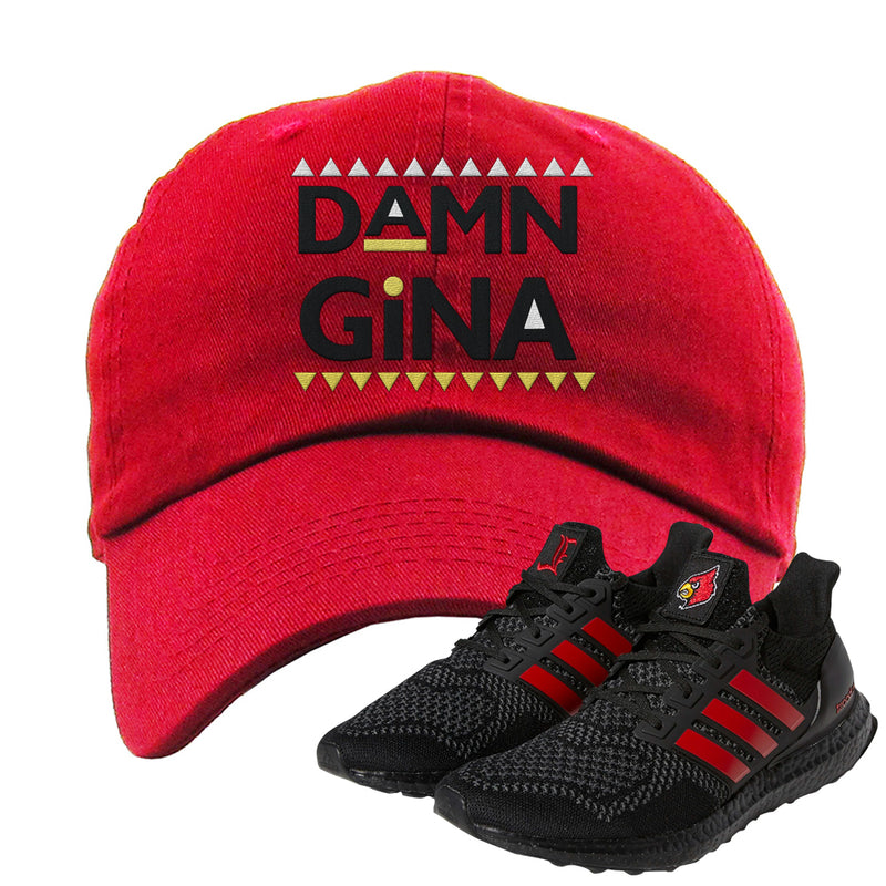 Ultra Boost 1.0 Louisville Dad Hat | Damn Gina, Red