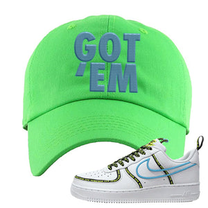 Air Force 1 '07 PRM 'Worldwide Pack' Dad Hat | Neon Green, Got Em