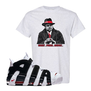 Air More Uptempo White Black Red T Shirt | Ash, Capone Illustration