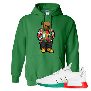 NMD R1 V2 Ciudad De Mexico Hoodie | Irish Green, Sweater Bear