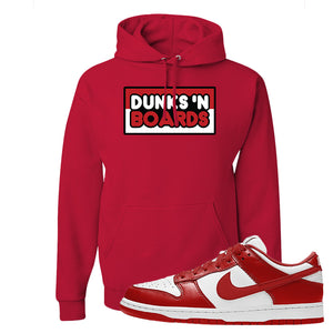 SB Dunk Low St. Johns Hoodie | Dunks N Board, Red