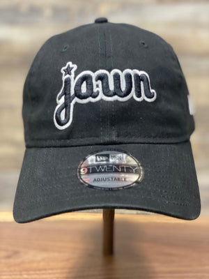 Jawn Dad hat | Philadelphia inspired dad hat | Jawn New era dad hat | Black white front view