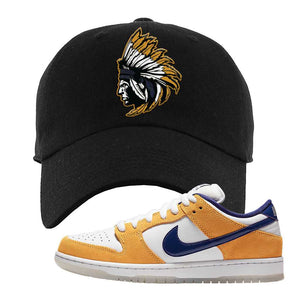SB Dunk Low Laser Orange Dad Hat | Black, Indian Chief