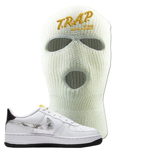 Air Force 1 Ski Mask | White, Trap To Rise Above Poverty