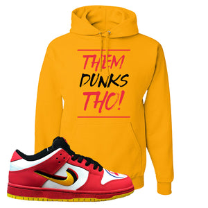 Nike Dunk Low Vietnam 25th Anniversary Pullover Hoodie | Them Dunks Tho, Gold