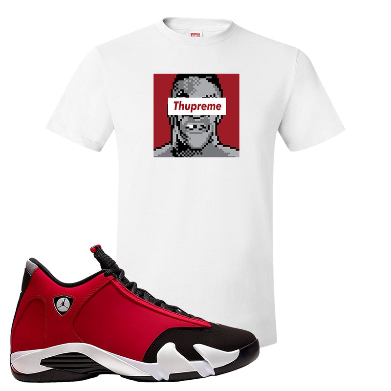 Air Jordan 14 Gym Red T Shirt | White, Thupreme
