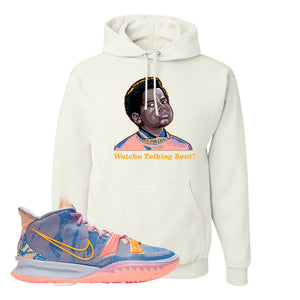 Kyrie 7 Expressions Hoodie | Watchu Talkin Bout, White