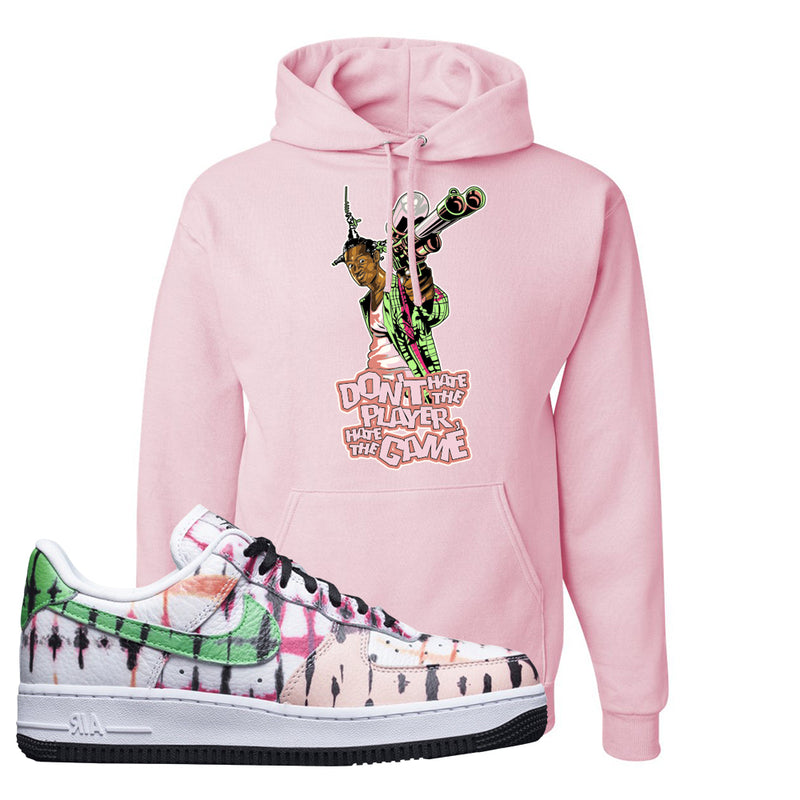 Air Force 1 Low Multi-Colored Tie-Dye Hoodie | Light Pink, Don't Hate The Playa