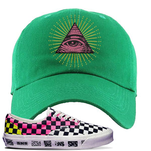 Vans Era Venice Beach Pack Dad Hat | Kelly Green, All Seeing Eye