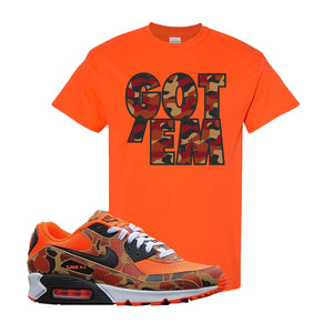 Air Max 90 Duck Camo Orange T Shirt | Orange, Got Em