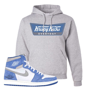 Air Jordan 1 High Hyper Royal Pullover Hoodie | Krispy Kicks, Ash
