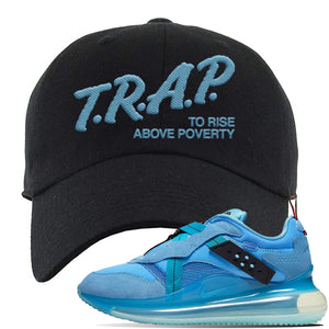 Air Max 720 OBJ Slip Light Blue Dad Hat | Black, Trap To Rise Above Poverty