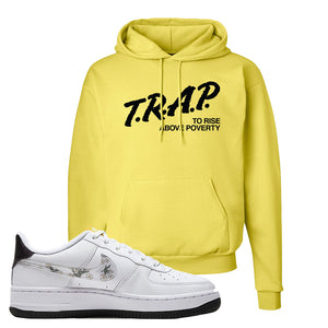 Air Force 1 Hoodie | Yellow, Trap To Rise Above Poverty
