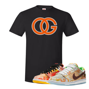 SB Dunk Low Street Hawker T Shirt | OG, Black
