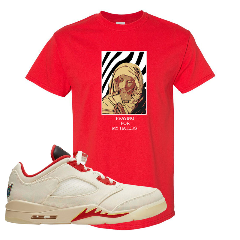 Air Jordan 5 Low Chinese New Year 2021 T Shirt | God Told Me, Red