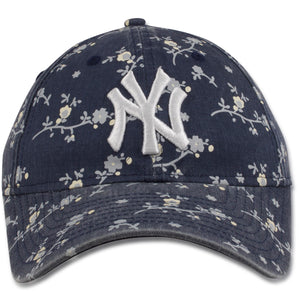 New York Yankees Blossom Floral Navy Blue Women's 9Twenty Adjustable Baseball Cap